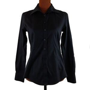 Brooks Brothers  Shirt Sz 4 Black No Iron Tailored